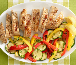 Grilled Turkey Tenderloin & Veggies