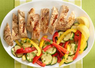 Grilled Turkey Tenderloin & Veggies