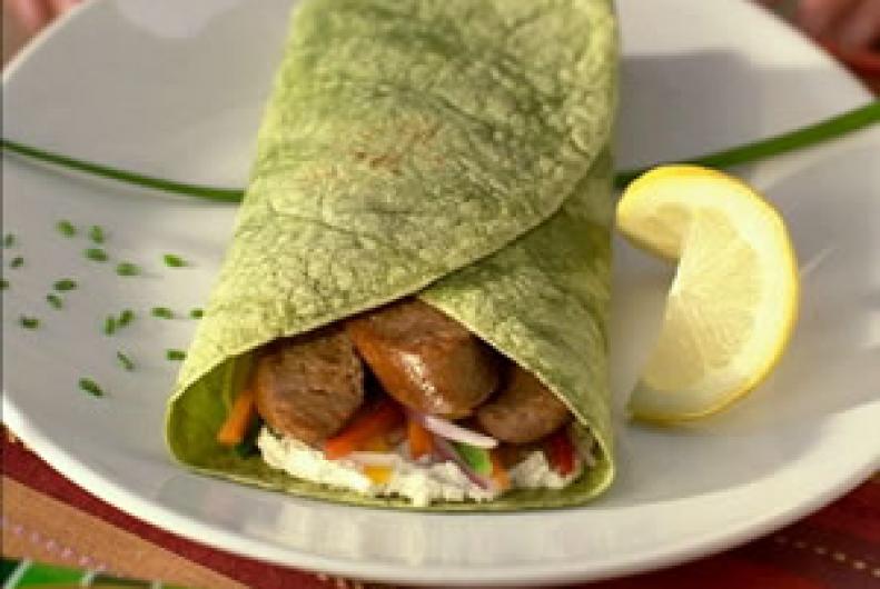 Turkey Sausage n' Veggie Wrap