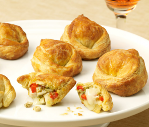 Turkey Baked Brie Puff Pastries