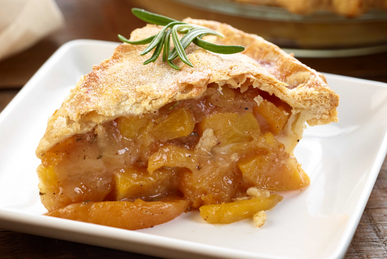 Bourbon Peach Pie