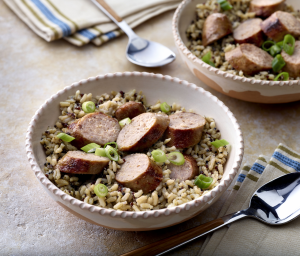 Habañero Apricot Sausage and Brown Rice & Quinoa