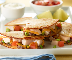 Cheesy Turkey Quesadillas