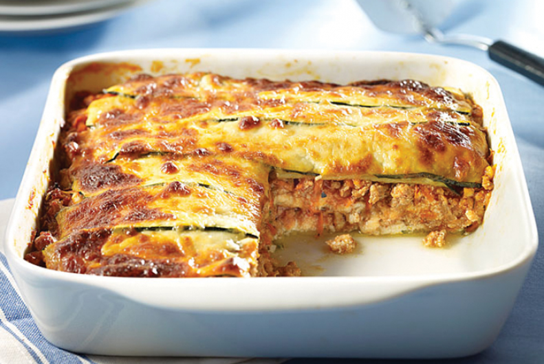 Turkey Zucchini Layered Lasagna