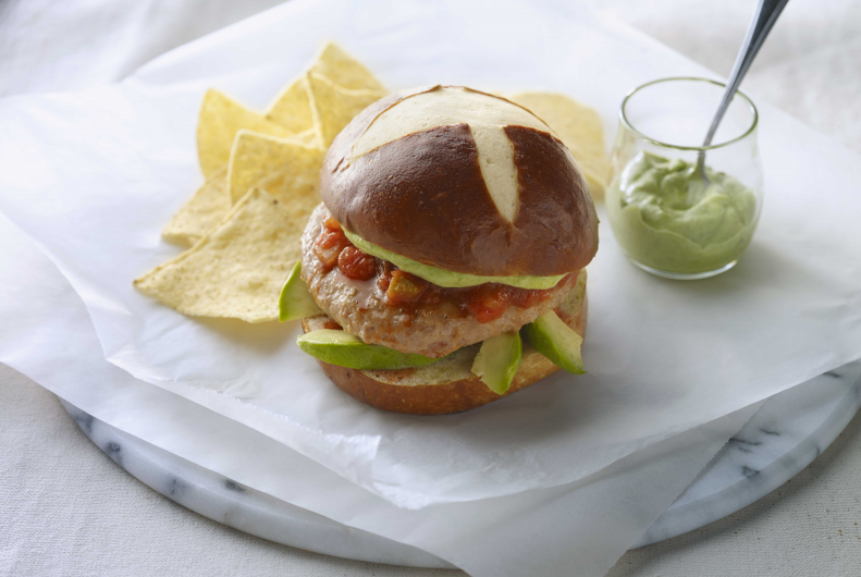 Southwest Pesto Turkey Burgers