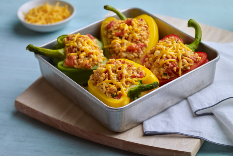 Colorful Turkey Stuffed Peppers