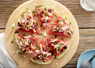 Watermelon Feta Turkey Pizza