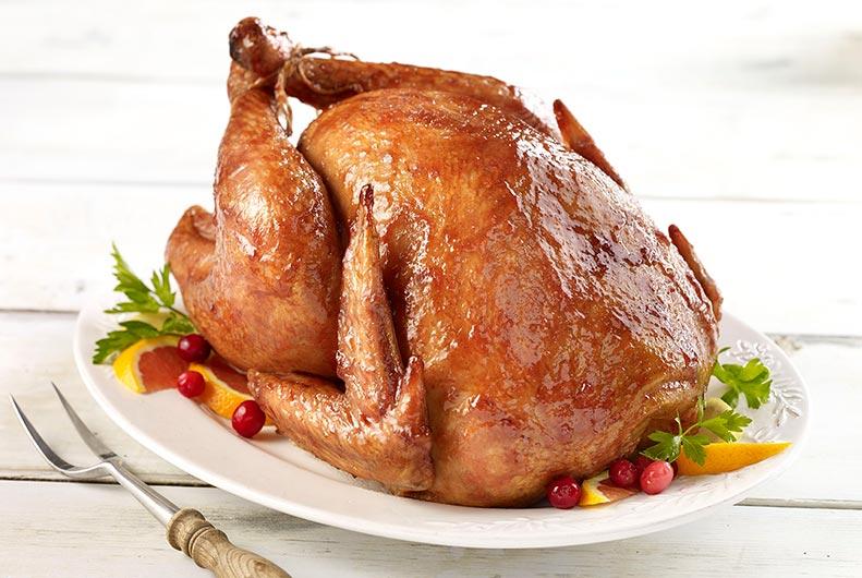 Spiced Cranberry Glazed Turkey