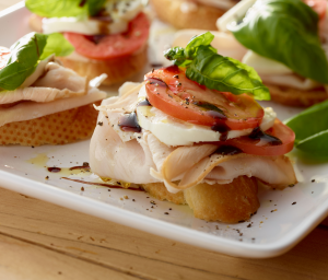 Turkey Caprese Bruschetta