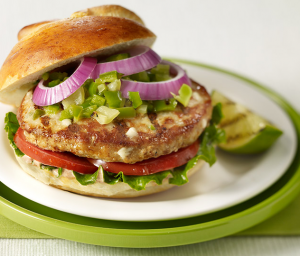 New Mexico Green Chili Turkey Burger