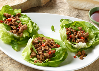 Seattle-Style Turkey Lettuce Wraps