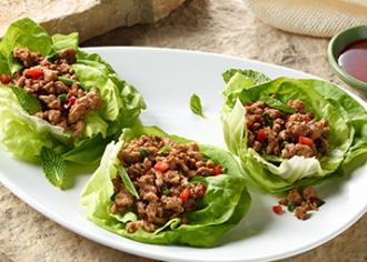 Seattle-Style Turkey Lettuce Wraps