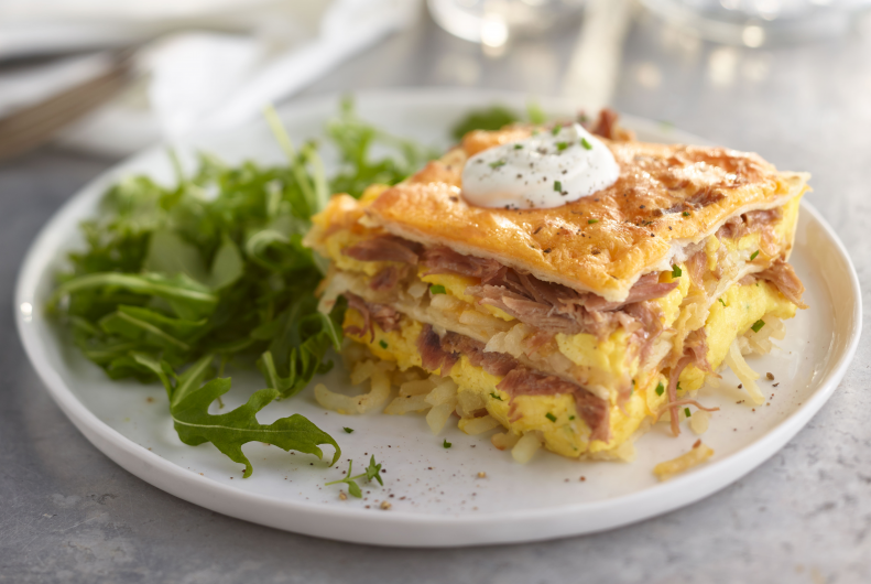 Turkey & Hashbrown Brunch Lasagna