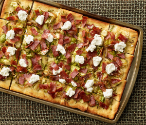 Brussels Sprouts & Turkey Bacon Flatbread