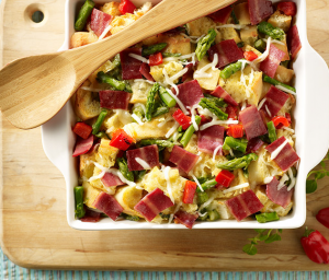 Asparagus & Turkey Bacon Strata