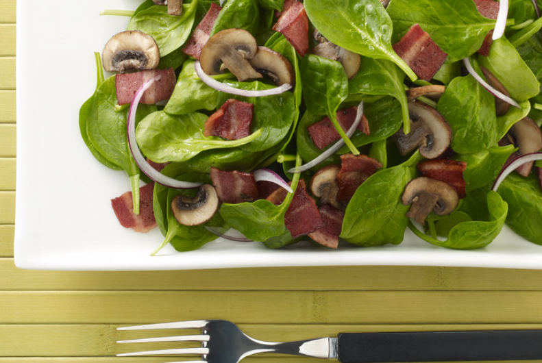 Spinach & Turkey Bacon Salad
