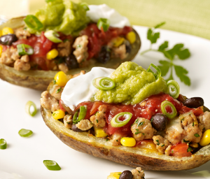 Mexican Turkey Potato Skins