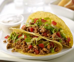 Buffalo Style Turkey Tacos