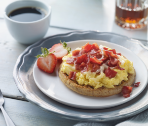 Sunrise Turkey Bacon Breakfast Pizzas