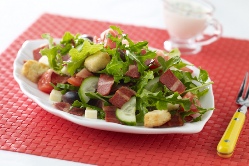 Turkey Bacon, Lettuce & Tomato Salad
