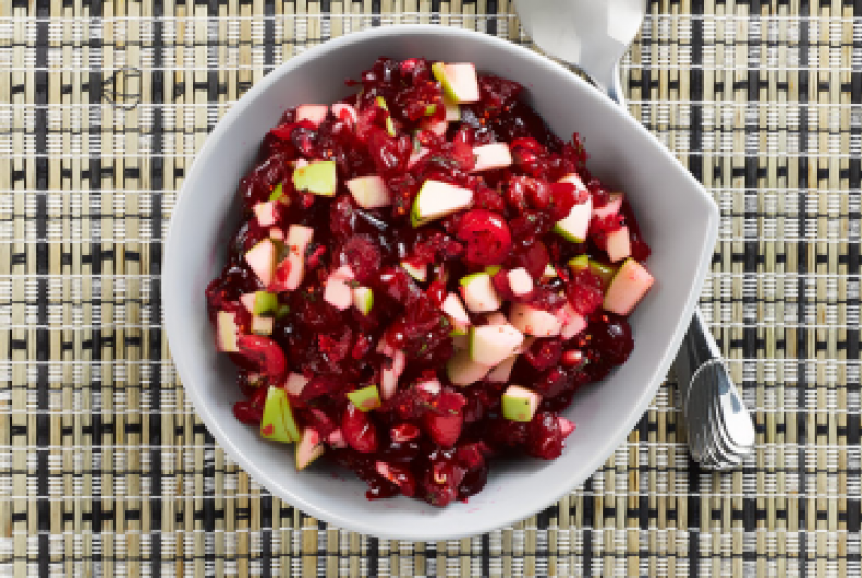 Pomegranate-Apple Cranberry Relish