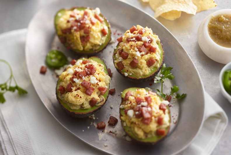 Turkey Ham Stuffed Avocados